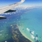 Aerilal view of the Caribbean sea.